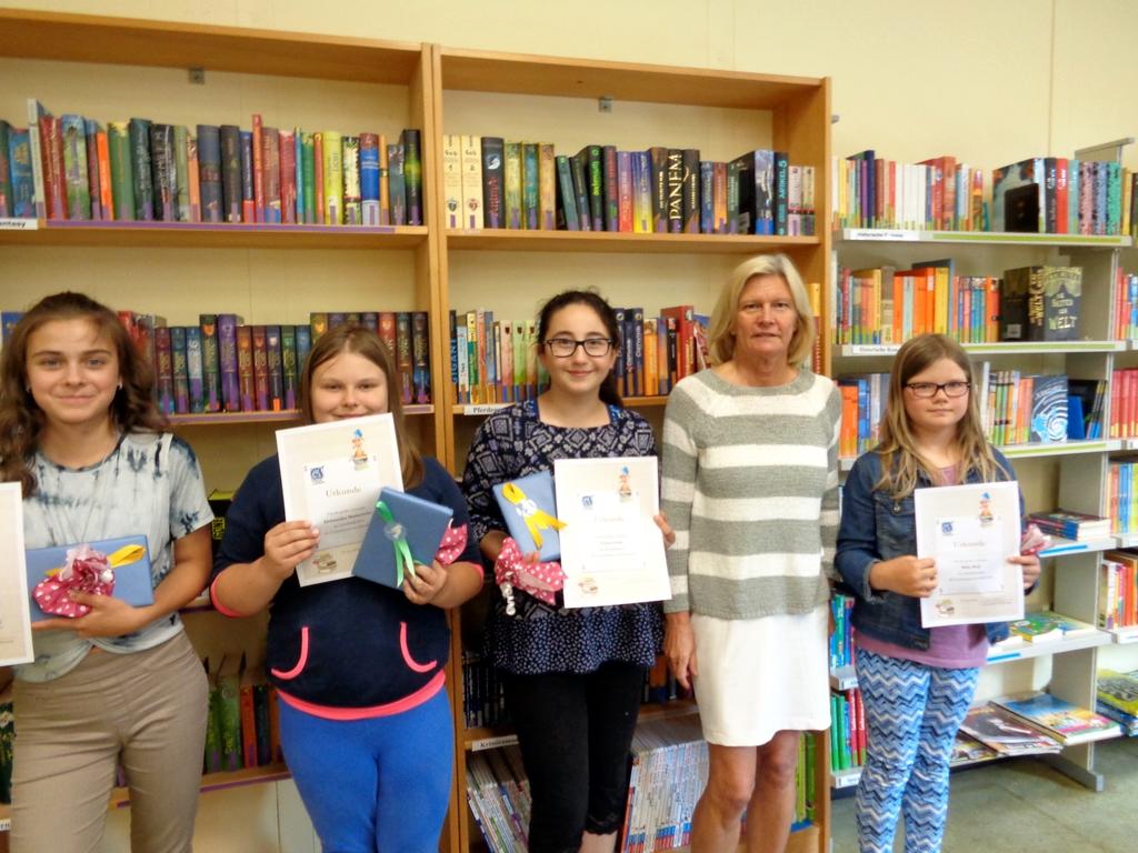 Die Leseratten 2018 in der Schulbücherei